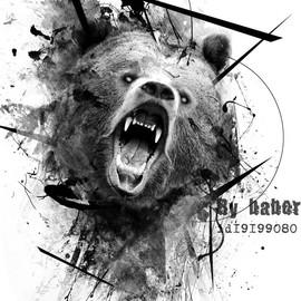 Медведь в стиле треш-полька